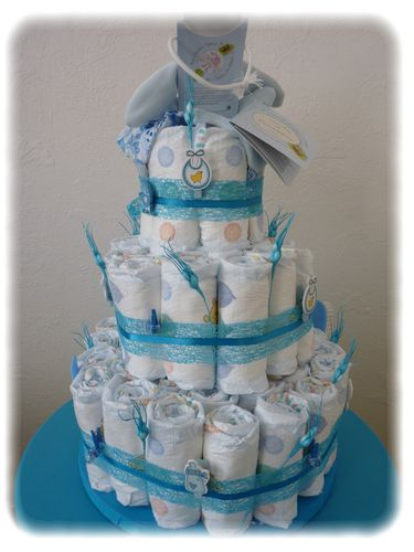 2 me g teau de couches diaper cake le blog de nath - Fabrication d un gateau de couches ...