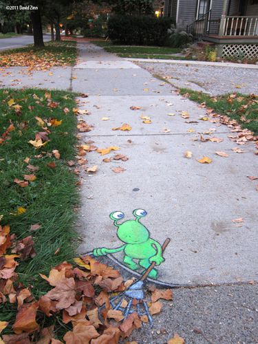 lazy leafraker by david zinn