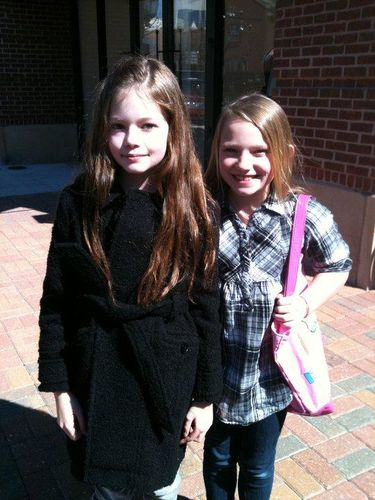 Mackenzie Foy with fan