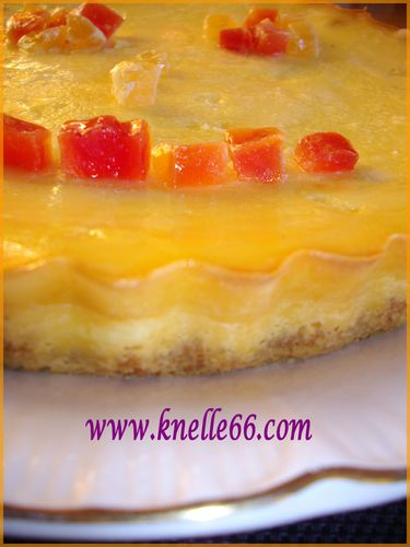 Cheesecake aux fruits exotiques 2