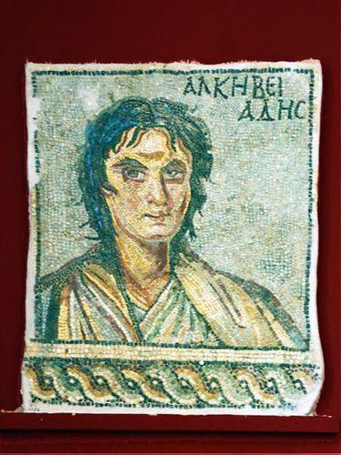 715h4 Alcibiade, mosaïque, musée archéologique de Sparte