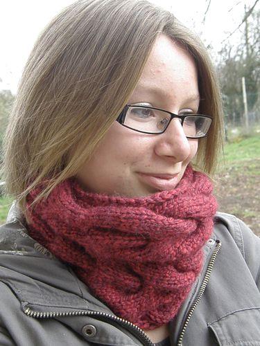 Snood rouge Février 2011