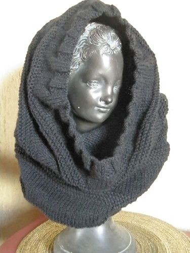 Snood noir Jan 2011