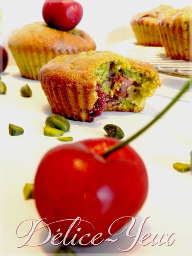 Muffins pistache cerise3
