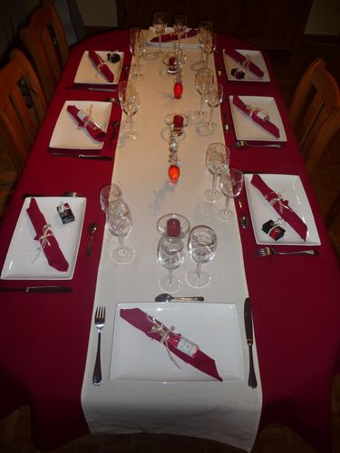 Decoration de table rouge et blanc mon show colat mes - Decoration table de noel rouge et blanc ...