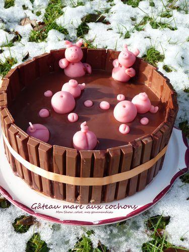 Gâteau mare aux cochons5