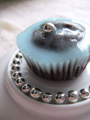 cupcake choco-menthe glaciale