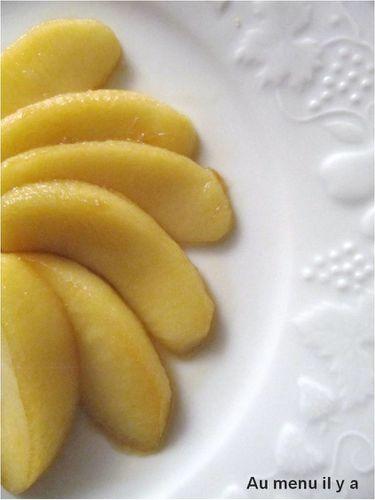 pommes aromatisée au citron