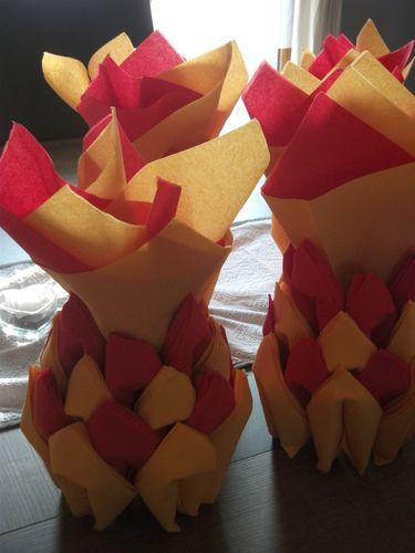 pliage de serviette ananas 005