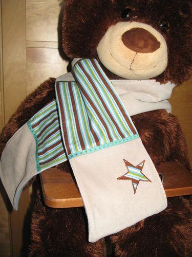 écharpe rayée étoile 001 (Large)