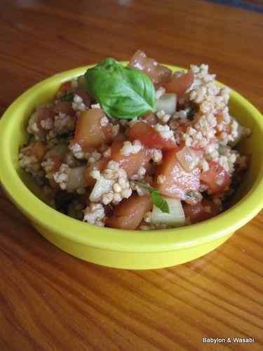 salade fraiche au millet