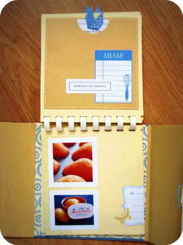 Scrap Inès Album Gatronomie cuisine Lorraine beige bleu (8