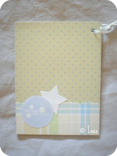 Scrap'Inès Mini Album Bébé Garçon Clean and Si-copie-13