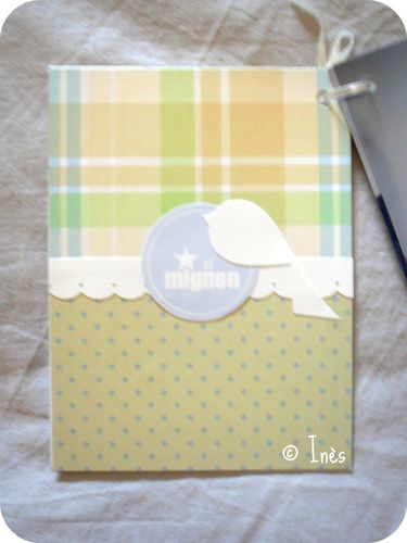 Scrap'Inès Mini Album Bébé Garçon Clean and Si-copie-4