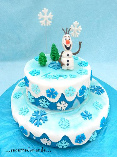 olaf cake g teau 3d la reine des neiges frozen cake recette du monde. Black Bedroom Furniture Sets. Home Design Ideas