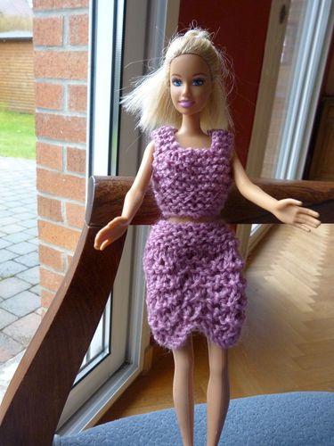 Libellule tricot barbie vieux rose A