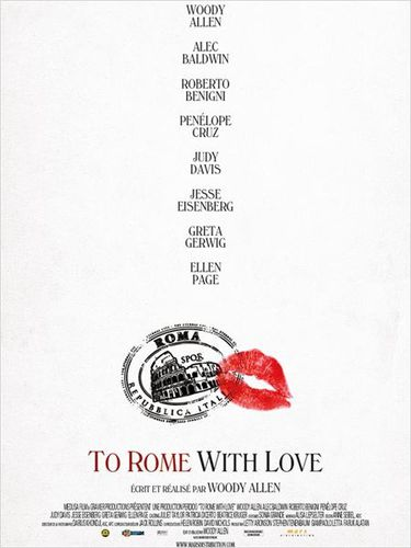 To Rome With Love affiche