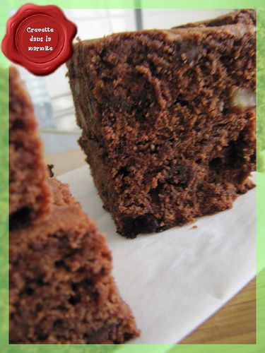 brownies chocolat et noix crevette dans la marmite. Black Bedroom Furniture Sets. Home Design Ideas