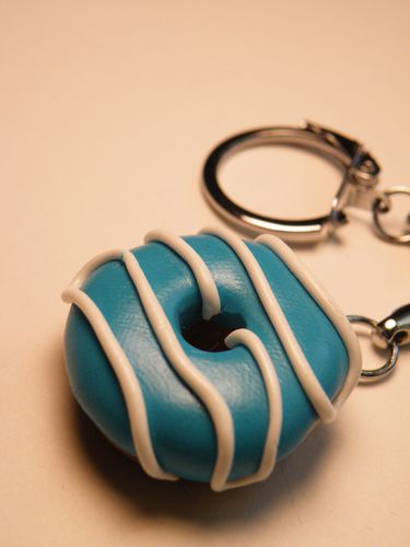 porte clefs donuts menthe
