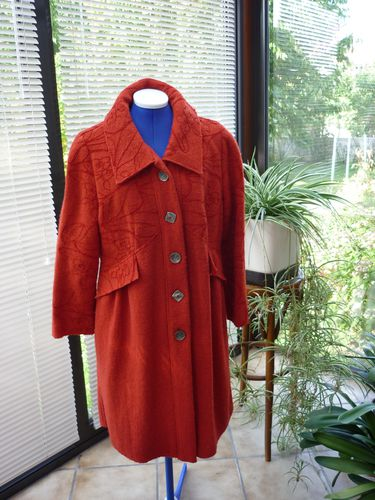Manteau orange Laine Bouillie