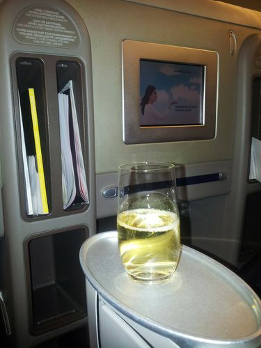 air france business paris NY champagne
