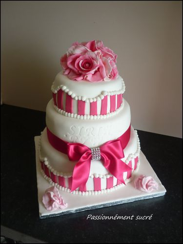 Wedding cake Sirine & Rywan - Passionnément sucré