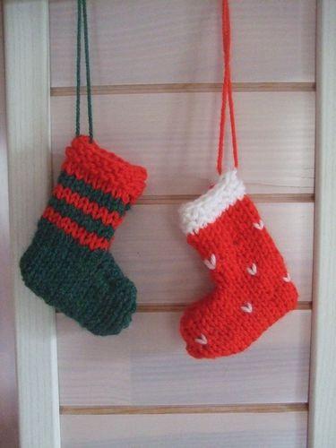 comment tricoter une chaussette de noel