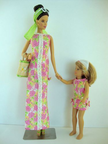 2005 Lilly Pulitzer Barbie et Stacie No-H187-1