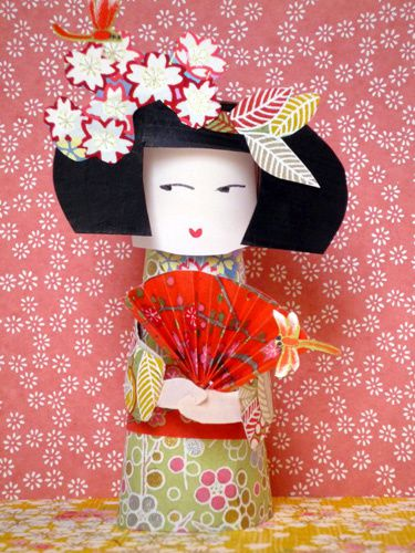 kokeshi paper toy eventailb