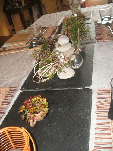 table galets et ardoise variante orange 020