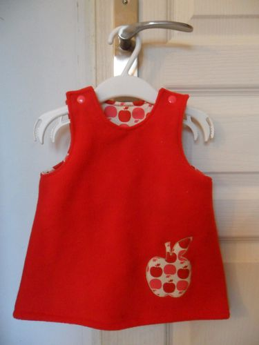 robe pomme rouge