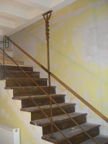 rampe d 39 escalier sout nement atelier dans fer. Black Bedroom Furniture Sets. Home Design Ideas