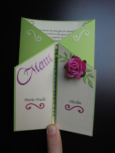 047 - Menu Mariage Marie-Noelle et Nicolas 29 juin 2012