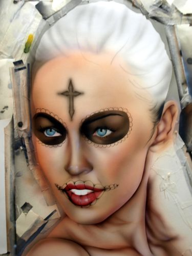 Cavalera inspiration megan fox le blog de custom aerographie - Tatouage cavalera ...