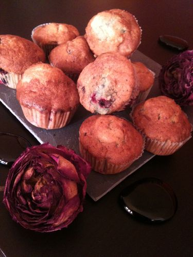 Muffins/Cupcake aux fruits rouges