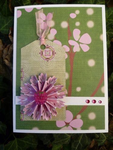 recette de carte Scrap à la carte : 1 tag + 1 rosace