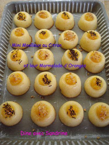 Mini moelleux au citron et marmelade d'oranges 9