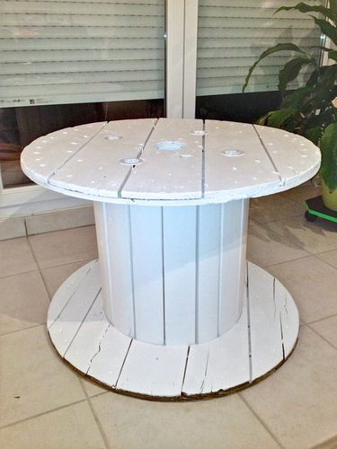 Un touret pour table basse le blog de miac h Touret bois table basse