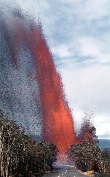 Kilauea Iki - Photograph by J.P. Eaton at 10h30 a.m. on Nov