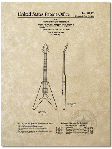 patent gibson flying V big
