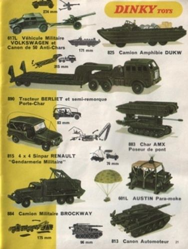 catalogue dinky toys 1969 p21 vehicules militaires volkswag