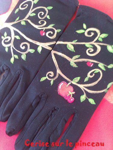 peinture pommier gants