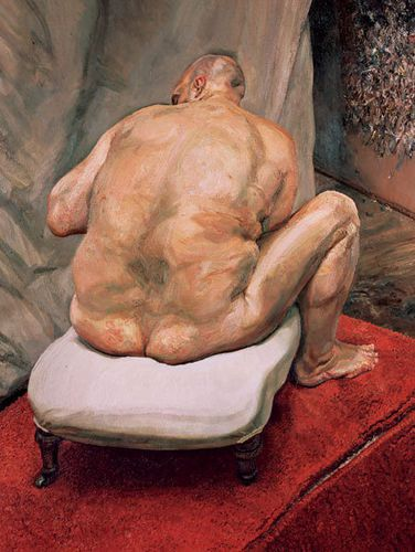 1992 Lucian freud Leigh Bowery Back view