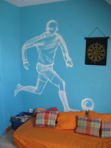 fresque graffiti d cor de chambre ado memo art. Black Bedroom Furniture Sets. Home Design Ideas