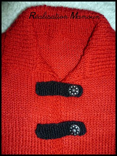 gilet long rouge 2