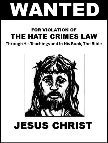 Wanted Poster Jesus - Hate Crimes
