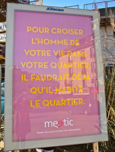 affiche meetic quartier