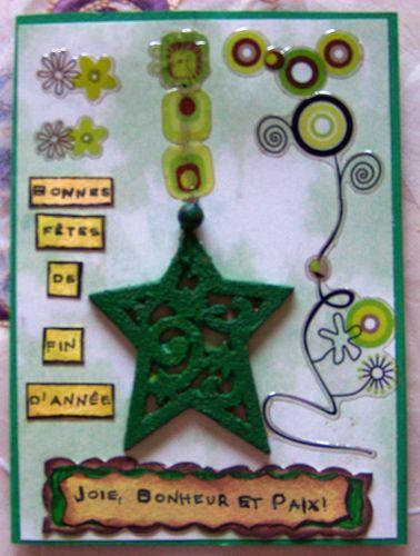 Etoile de noel verte creation Fathia Nasr (11)