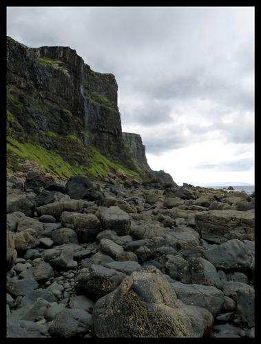 Talisker Bay falaises