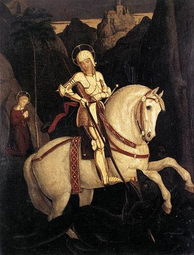 455px-Franz Pforr - St George and the Dragon - WGA17399